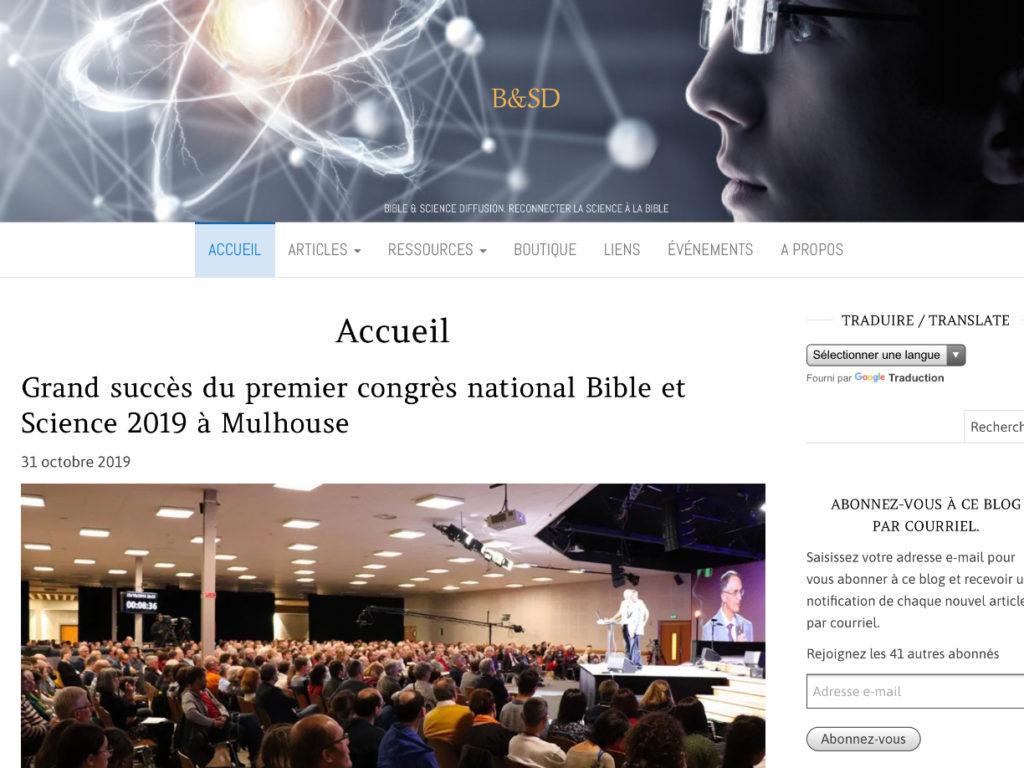 Image lien du Site Bible et sciences