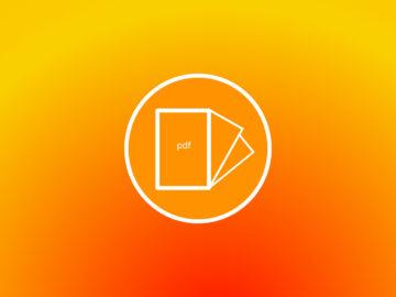 Symbole doc pdf sur fond orange