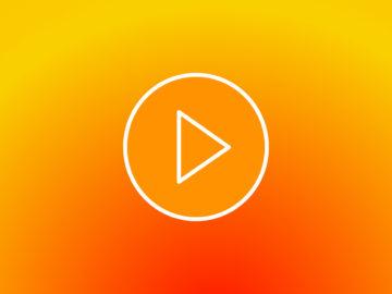 Symbole vidéo sur fond orange
